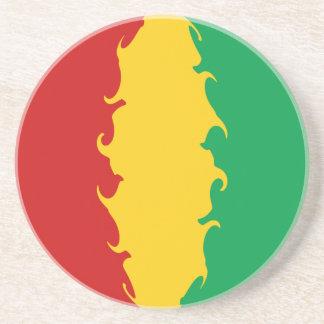 Guinea Conakry Gnarly Flag Coaster