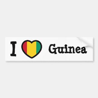 Guinea Flag Bumper Sticker