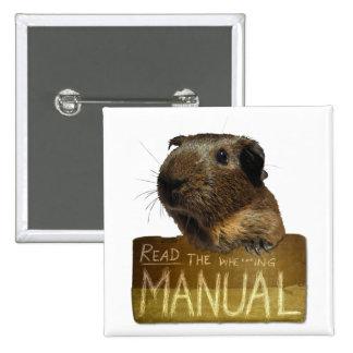 Guinea Pig Manual Pinback Buttons
