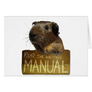 Guinea Pig Manual Card