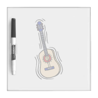 guitar acoustic simple red blue.png Dry-Erase whiteboards