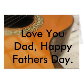 Guitar Fathers Day Card