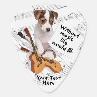 Guitar & Jack Russell Without Music Life Would Bb Plectrum