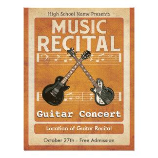 Guitar Music Recital 21.5 Cm X 28 Cm Flyer