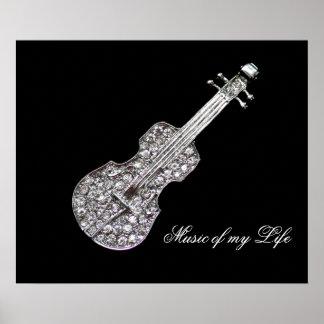 Guitar music symbol print