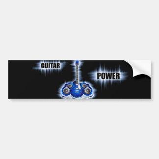 Guitar Power Bumper Sticker
