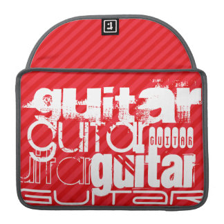 Guitar; Scarlet Red Stripes Sleeve For MacBook Pro