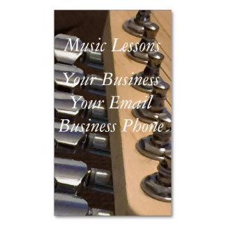 Guitar Top Magnetic Business Cards