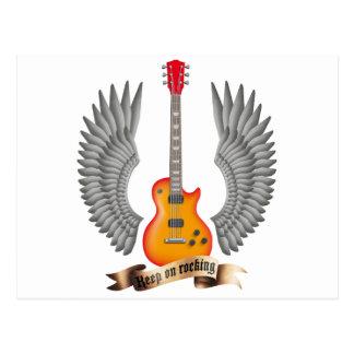 Guitars and wings talk post card