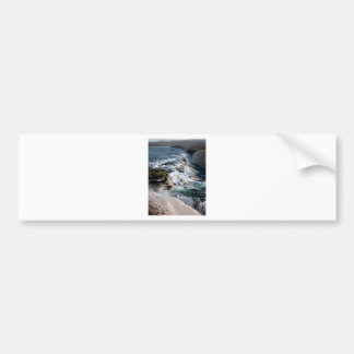 Gull Foss Waterfall Iceland Bumper Sticker