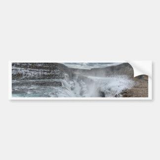 Gullfoss Waterfall, Iceland Bumper Stickers