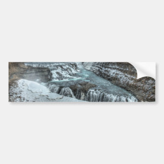 Gullfoss Waterfall, Iceland Bumper Sticker