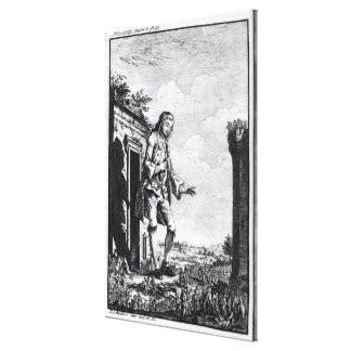 Gulliver amongst the Lilliputians Canvas Print