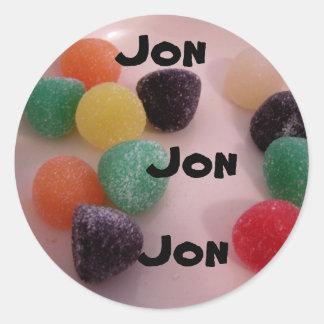 gumdrops, sticker for name Jon