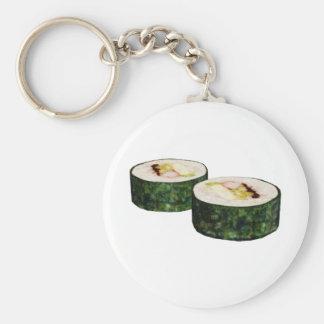 Gunkan Natto Sushi Basic Round Button Key Ring
