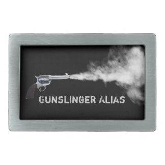 Gunslinger Buckle with Your Alias Belt Buckle