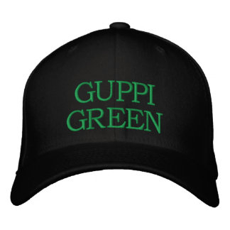 Guppi Green Cap Embroidered Hat