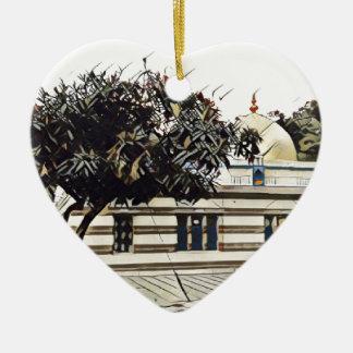 Gurudwara Ceramic Heart Decoration