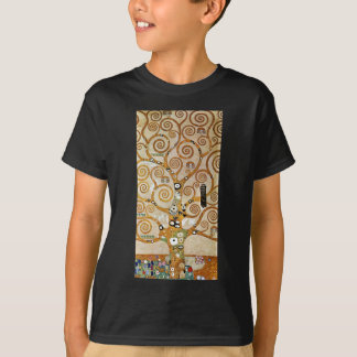 Gustav Klimt Golden Tree of Life with Bird T-Shirt