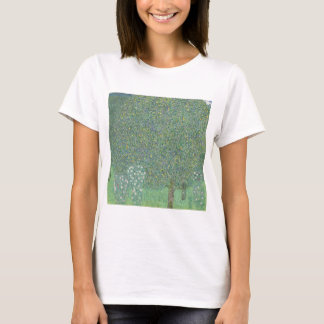 Gustav Klimt - Rosebushes under the Trees T-Shirt
