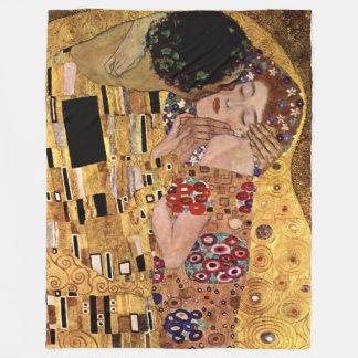 Gustav Klimt: The Kiss (Detail) Fleece Blanket