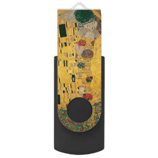 Gustav Klimt The Kiss (Lovers) GalleryHD Vintage Swivel USB 2.0 Flash Drive