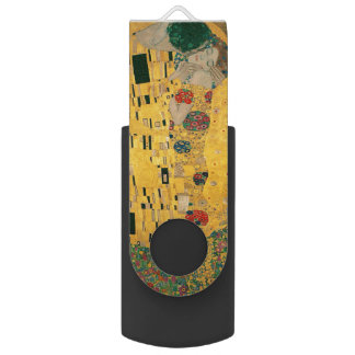 Gustav Klimt The Kiss (Lovers) GalleryHD Vintage USB Flash Drive