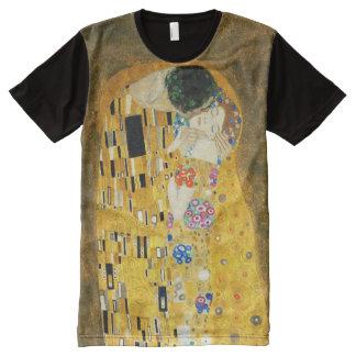 Gustav Klimt The Kiss Vintage Art Nouveau Painting All-Over Print T-Shirt