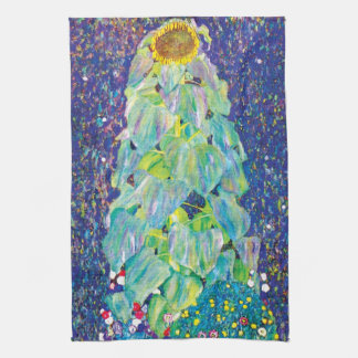 Gustav Klimt - The Sunflower Fine Art Painting Tea Towel