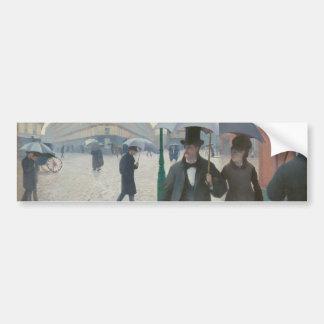 Gustave Caillebotte - Paris Street; Rainy Day Bumper Sticker
