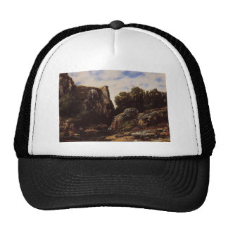 Gustave Courbet- Waterfall in the Jura Hat