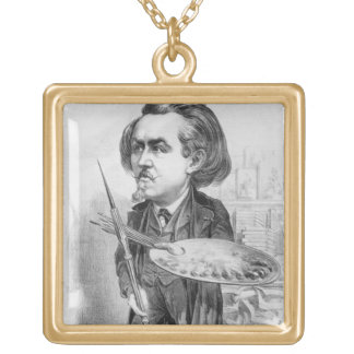 Gustave Dore (1832-83), caricature from 'Le Boulev Gold Plated Necklace