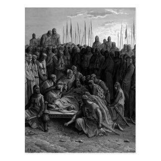 Gustave Dore: Death of Baldwin I the Latin King Post Card