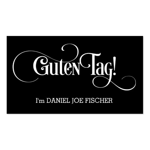 Guten Tag! Hello Greetings! Minimalist Business Cards