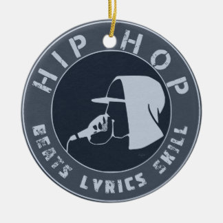 GUY IN HOODIE RAPPING ON THE MIC CHRISTMAS ORNAMENT