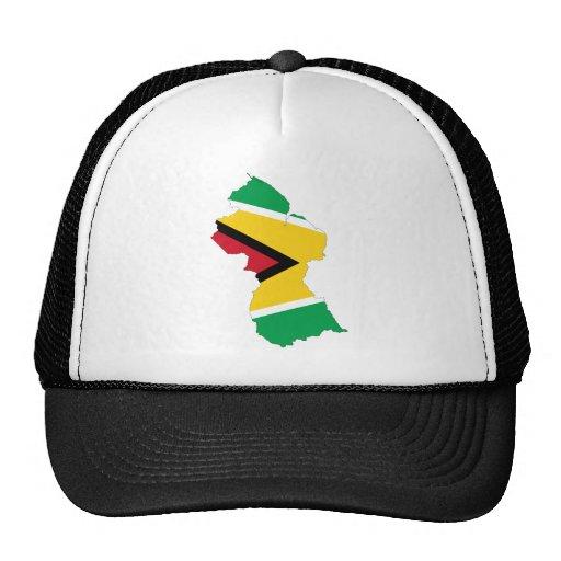 Guyana Flag Map Mesh Hat