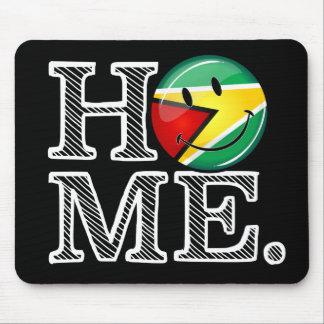 Guyana Flag Smiley Housewarmer Mouse Pad