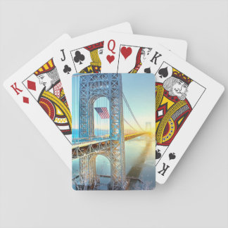 GWB connecting Fort Lee NJ and Manhattan NYPlus Playing Cards