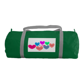 gym bag with colorful heart design gym duffel bag