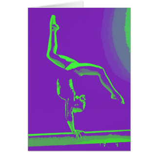 Gymnast Good Luck Note Card