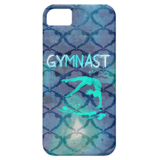 Gymnast Tribal Pattern Blue Case For The iPhone 5