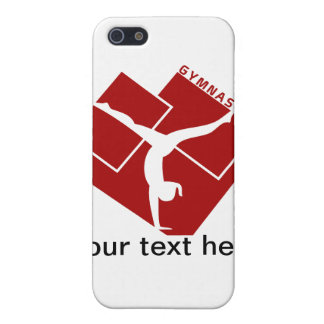 Gymnastic Silouhette in Red iPhone 5 Case