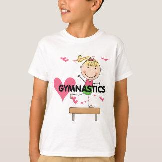 GYMNASTICS - Blond Girl Balance Beam Tshirts