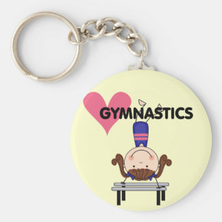 GYMNASTICS - Brunette Girl Handstands Key Ring