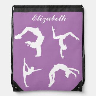 Gymnastics Exercise Personalized Drawstring Bag