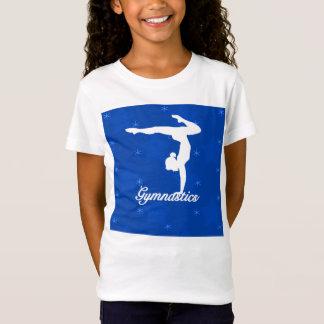 Gymnastics Girl Blue Stars T-Shirt