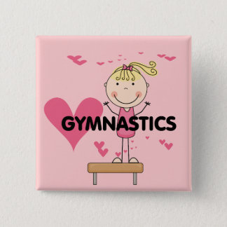 GYMNASTICS - Love Gymnastics Tshirts and Gifts 15 Cm Square Badge