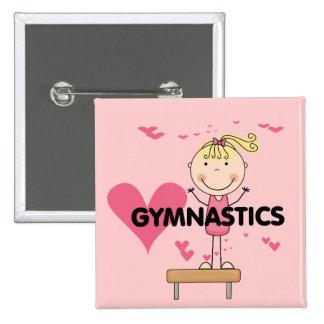 GYMNASTICS - Love Gymnastics Tshirts and Gifts 15 Cm Square Badge