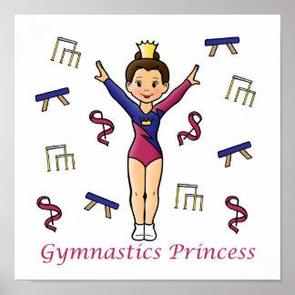 Gymnastics Princess Poster