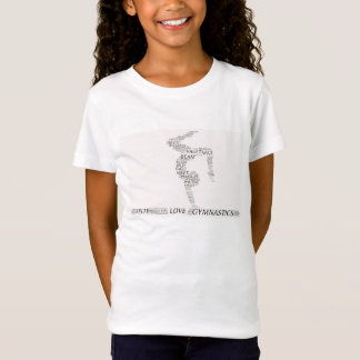 Gymnastics word art tee shirt